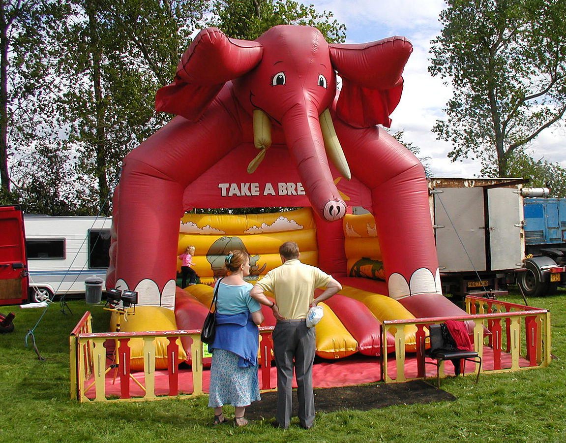 The best children's parties often have things like bouncy castles