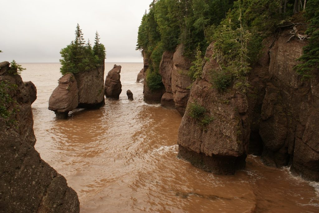 Seeing the Hopewell Rocks are the must while on holiday in New Brunswick Canada